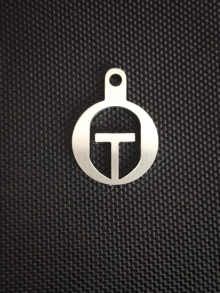 Spartan helmet stainless steel token
